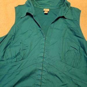 Sleeveless summer blouse